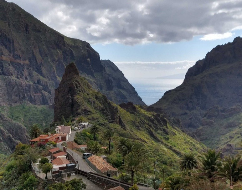 Masca hamlet, Morro Catana rock, houses with typical architecture from Tenerife